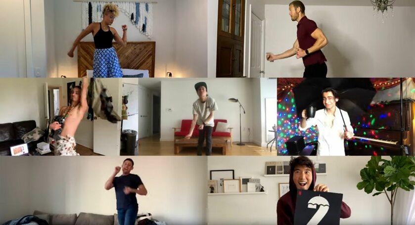 """Bohaterowie """"Umbrella Academy"""" w nagraniu promocyjnym"""