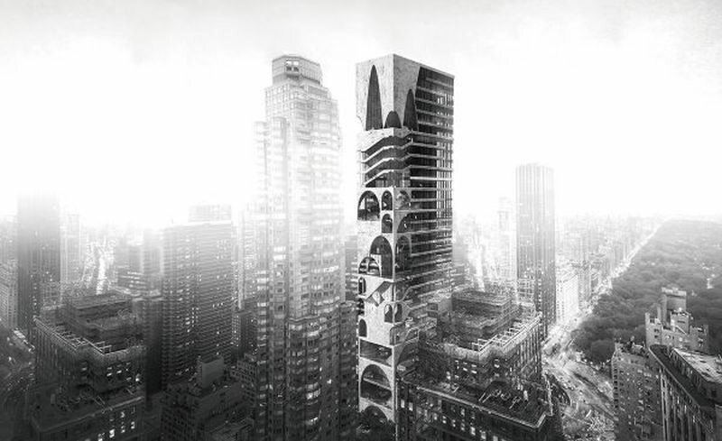 Arch Skyscraper - Wenjia Li, Ran Huo, Jing Ju. Chiny