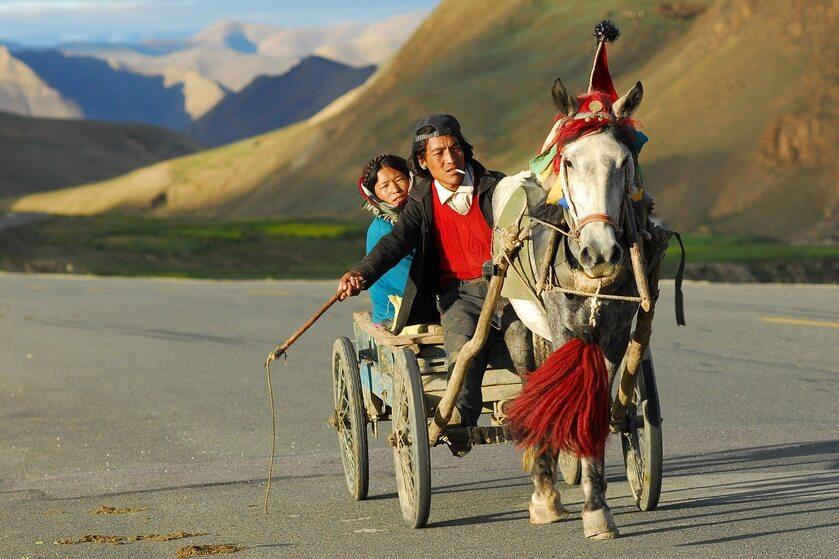 Mieszkańcy Tybetu, zdjęcie ilustracyjne