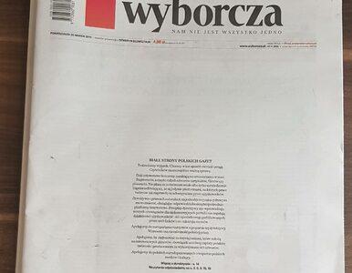 Polskie dzienniki z pustymi pierwszymi stronami. O co chodzi w tej akcji?