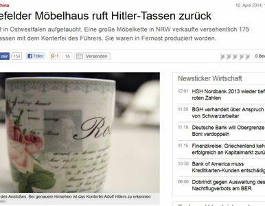 W Niemczech sprzedawano... filiżanki z podobizną Hitlera