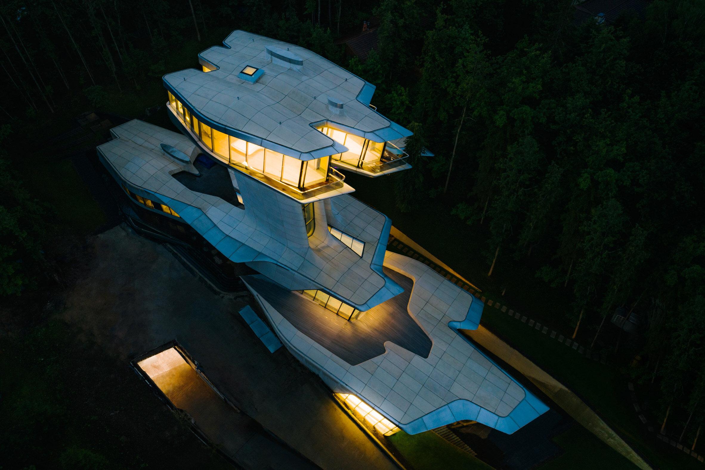 Rezydencja autorstwa Zahy Hadid Jedyny dom zaprojektowany przez Zahę Hadid