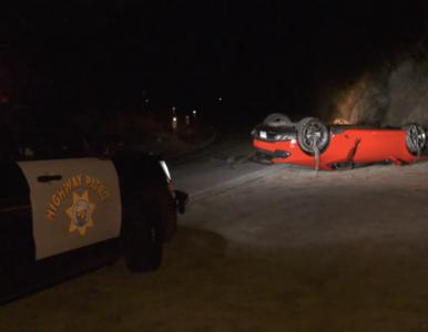 Policja znalazła Lamborghini Huracana stojącego... na dachu