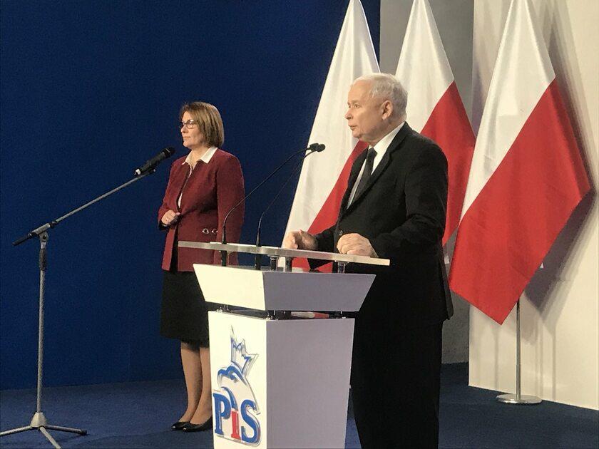 Briefing prezesa PiS