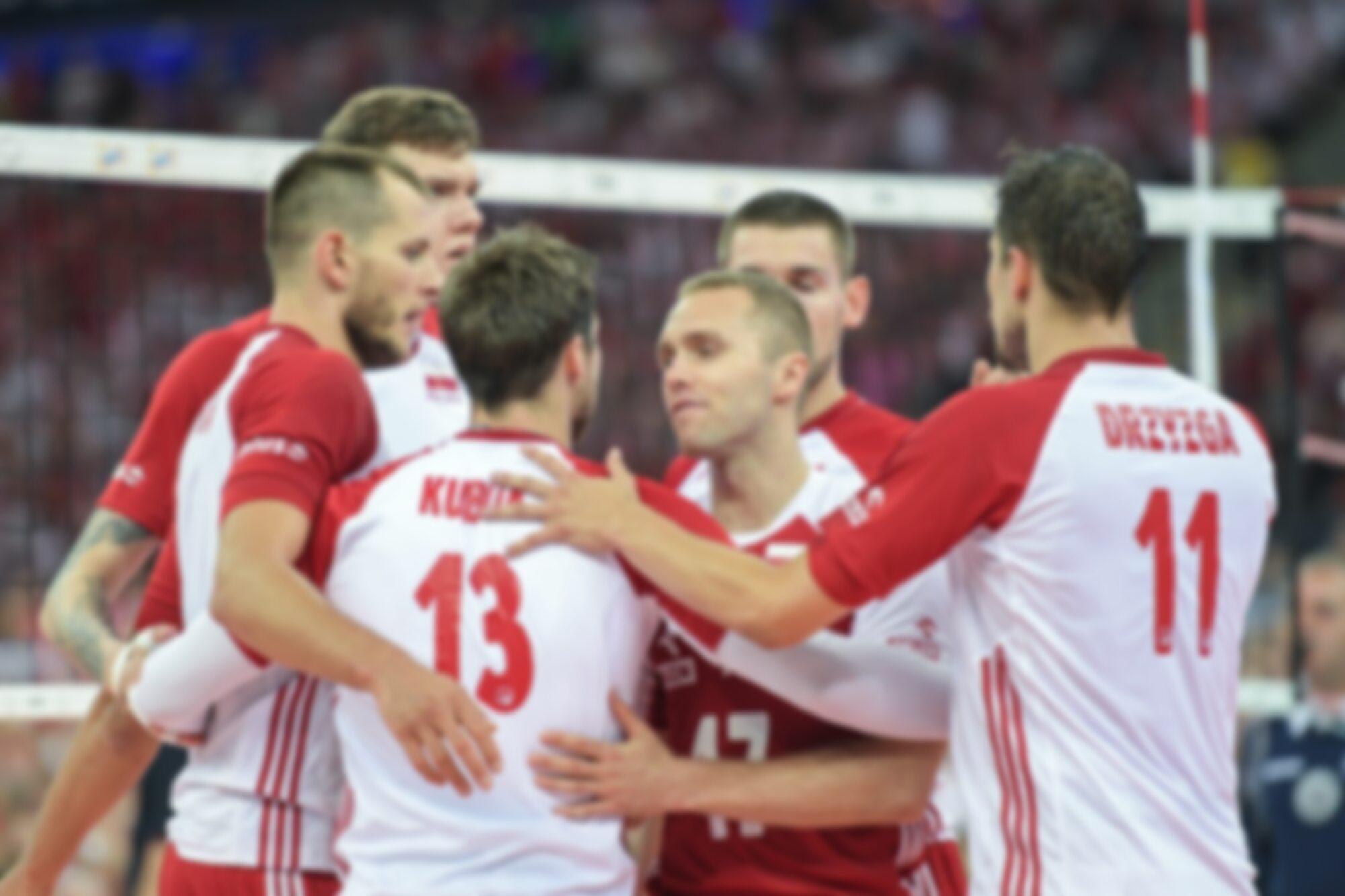 Biało-czerwoni podczas meczu z Serbią