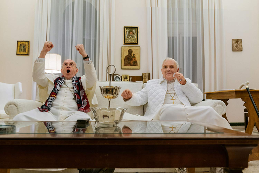 """Kadr z filmu """"Dwóch papieży"""""""