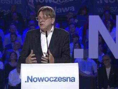 """Verhofstadt gratuluje Lubnauer. """"Powodzenia w waszej walce o wolną,..."""