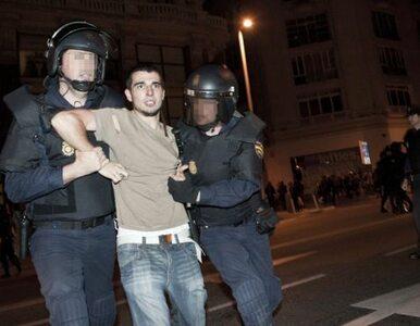 """Hiszpania: policja rozgoniła """"oburzonych"""" protestujących w Madrycie"""
