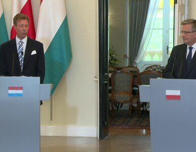 Wielki książę Luksemburga spotkał się z Komorowskim
