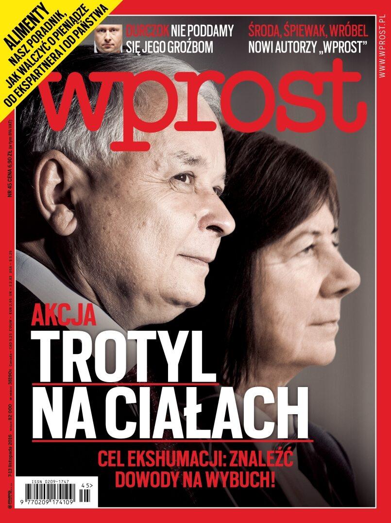 Okładka tygodnika Wprost nr 45/2016 (1761)