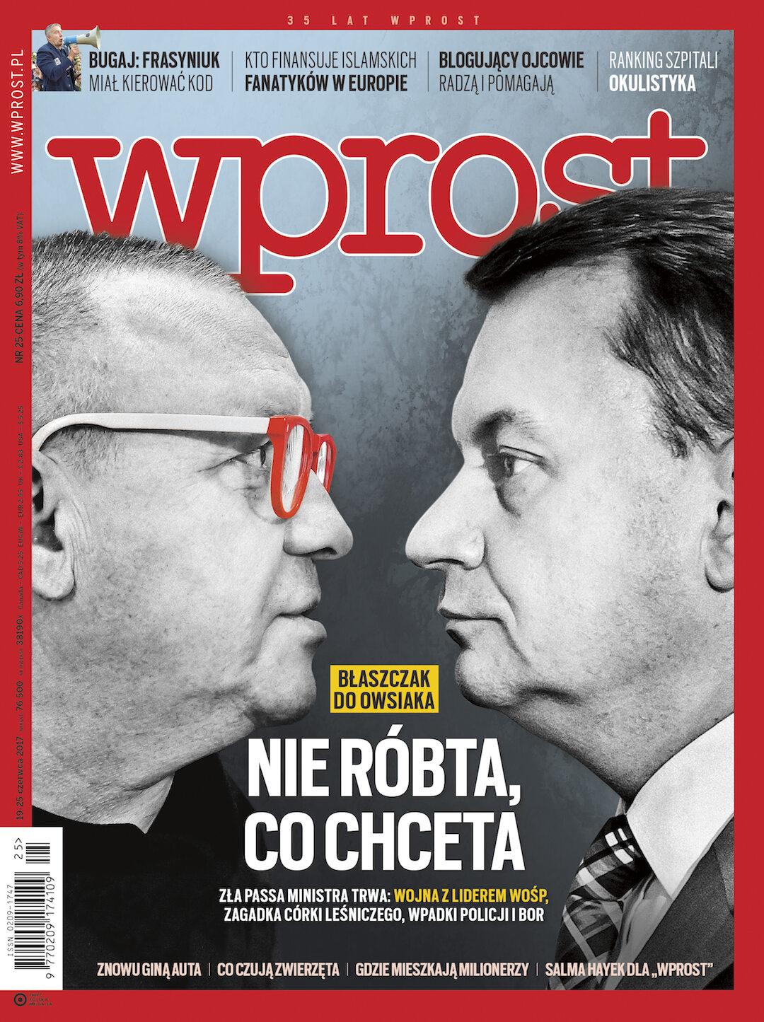 Okładka tygodnika Wprost nr 25/2017 (1791)