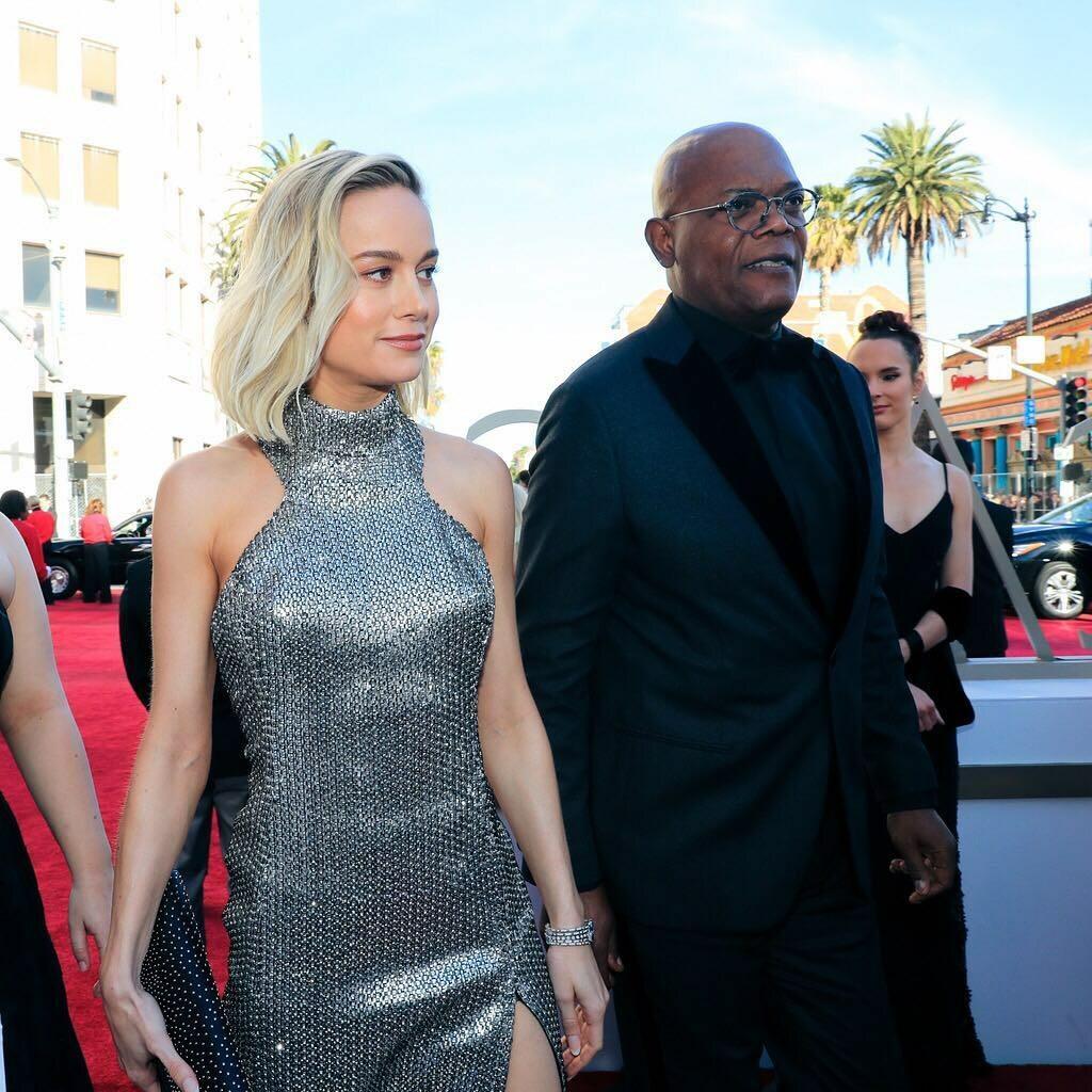 Brie Larson i Samuel L. Jackson