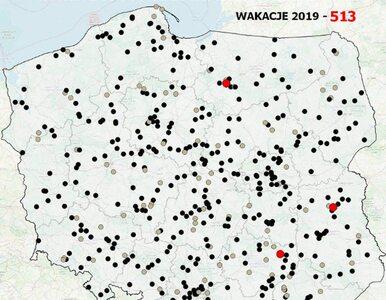513 wypadków śmiertelnych od początku wakacji. Zapełniona mapa...