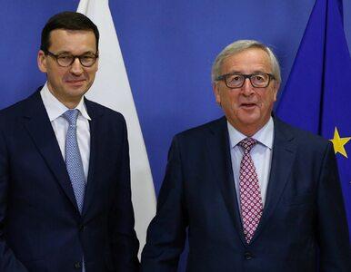 """Szef KE pogratulował Morawieckiemu. Juncker """"nie może doczekać się..."""