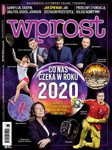 Okładka tygodnika Wprost nr 1/2020 (1917)