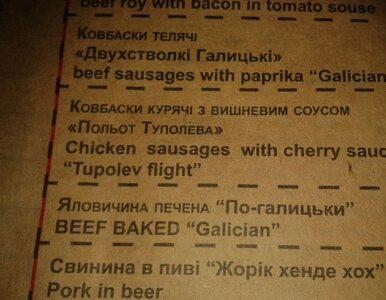 """Ukraina na miesiąc przed Euro: """"Lot tupolewa"""" w menu i plakaty z Banderą"""