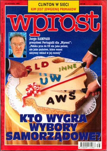 Okładka tygodnika Wprost nr 38/1998 (825)