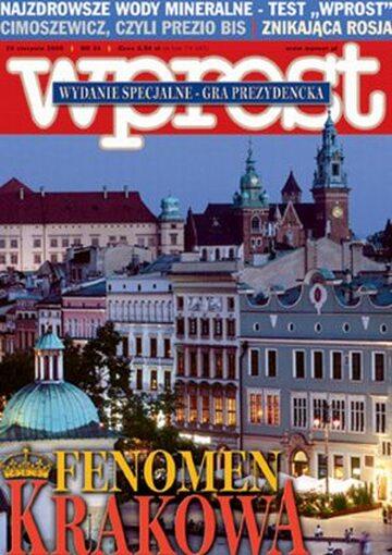 Okładka tygodnika Wprost nr 34/2005 (1186)