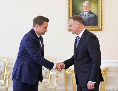 Andrzej Duda po spotkaniu z Rafałem Trzaskowskim: Gest podania dłoni...