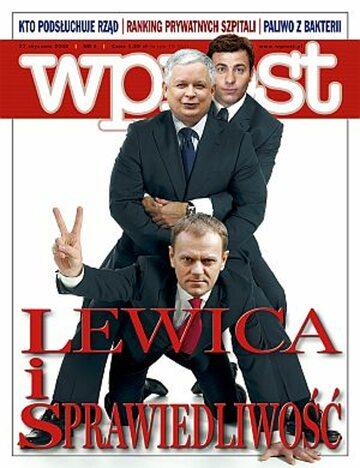 Okładka tygodnika Wprost nr 4/2008 (1309)