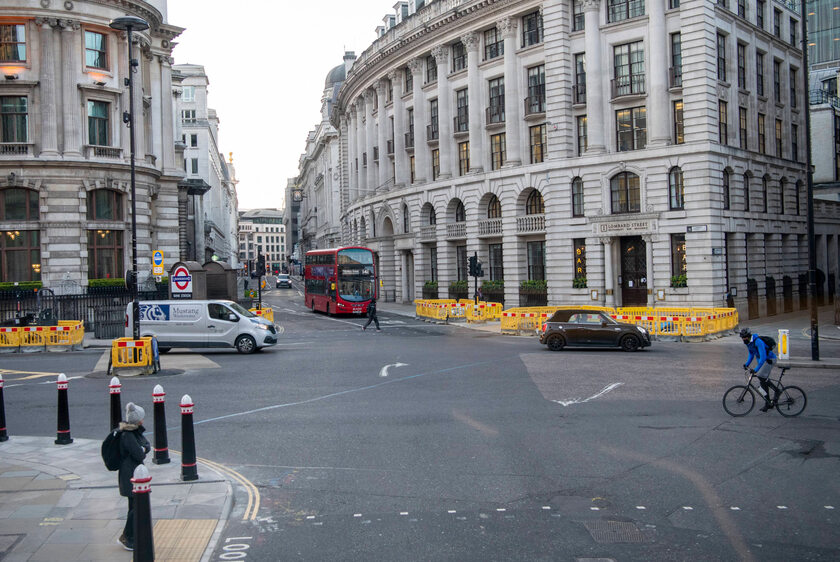Pustki na ulicach Londynu