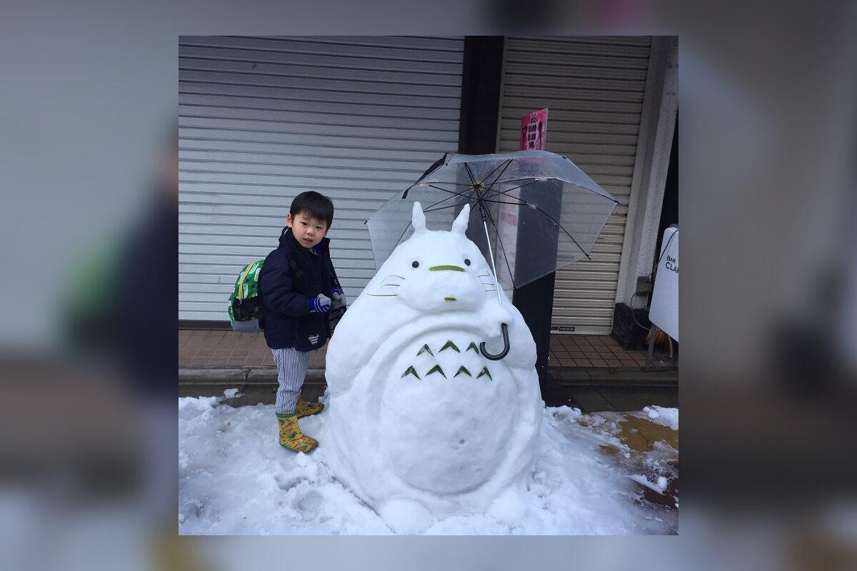 Rzeźby ze śniegu, które powstały w Tokio