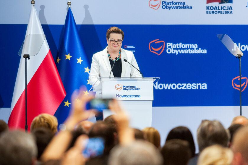 Katarzyna Lubnauer na Radzie Krajowej PO i Nowoczesnej