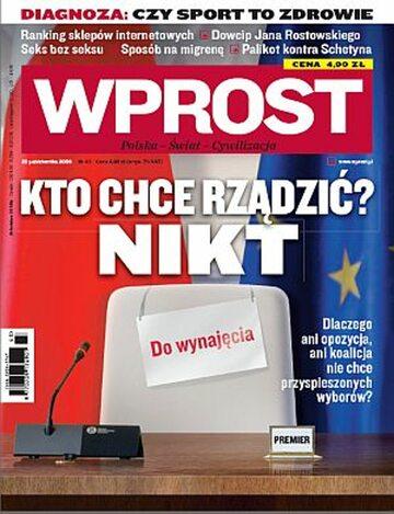 Okładka tygodnika Wprost nr 43/2009 (1396)