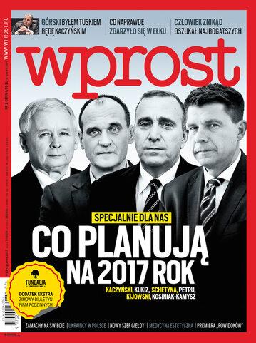 Okładka tygodnika Wprost nr 2/2017 (1769)