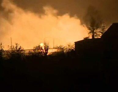 Pożar domów po wybuchu gazociągu w Jankowie Przygodzkim