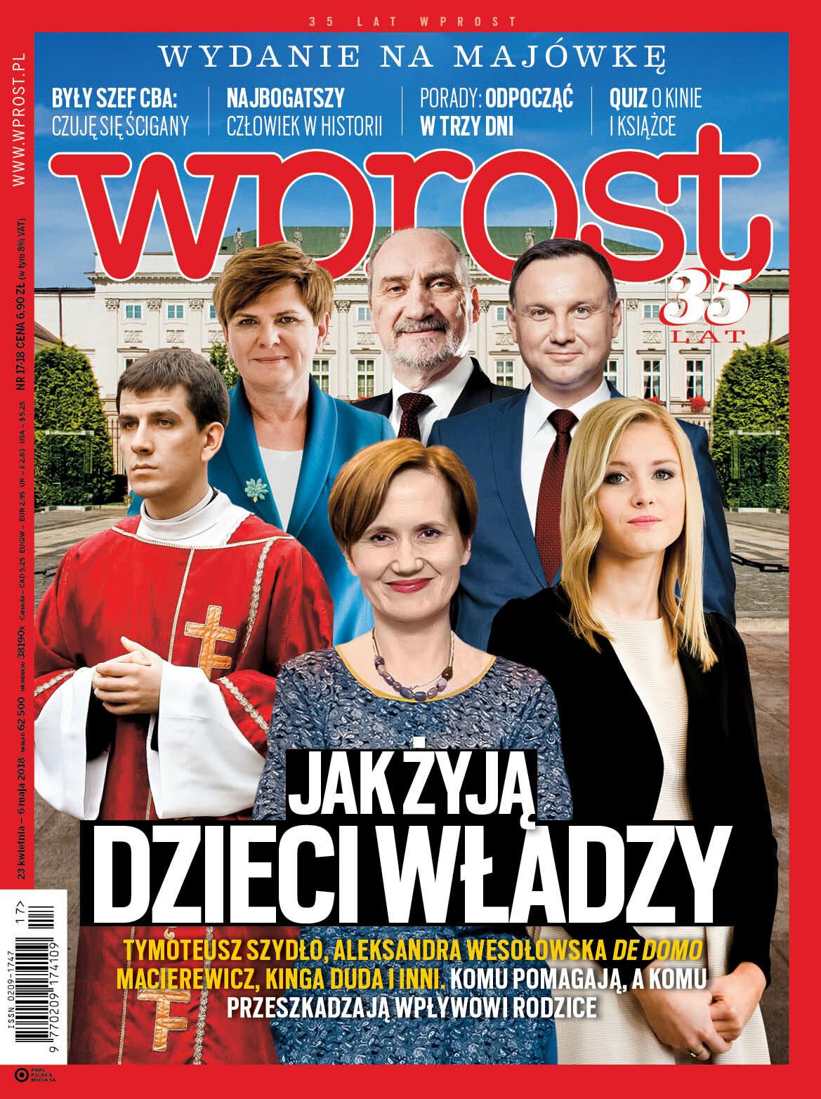Okładka tygodnika Wprost nr 17/18/2018 (1833)