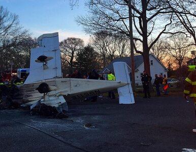 Katastrofa samolotu. Dwaj mężczyźni cudem uniknęli śmierci