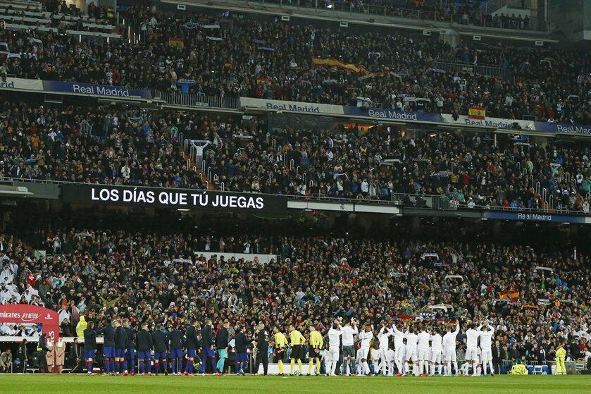 Piłkarze Realu Madryt po meczu z Barceloną