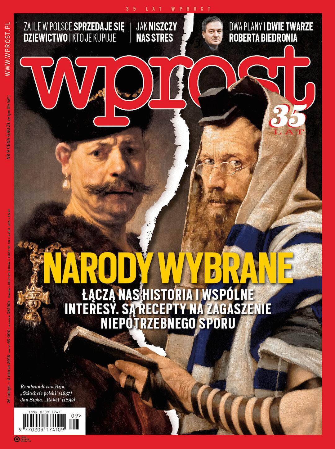 Okładka tygodnika Wprost nr 9/2018 (1825)