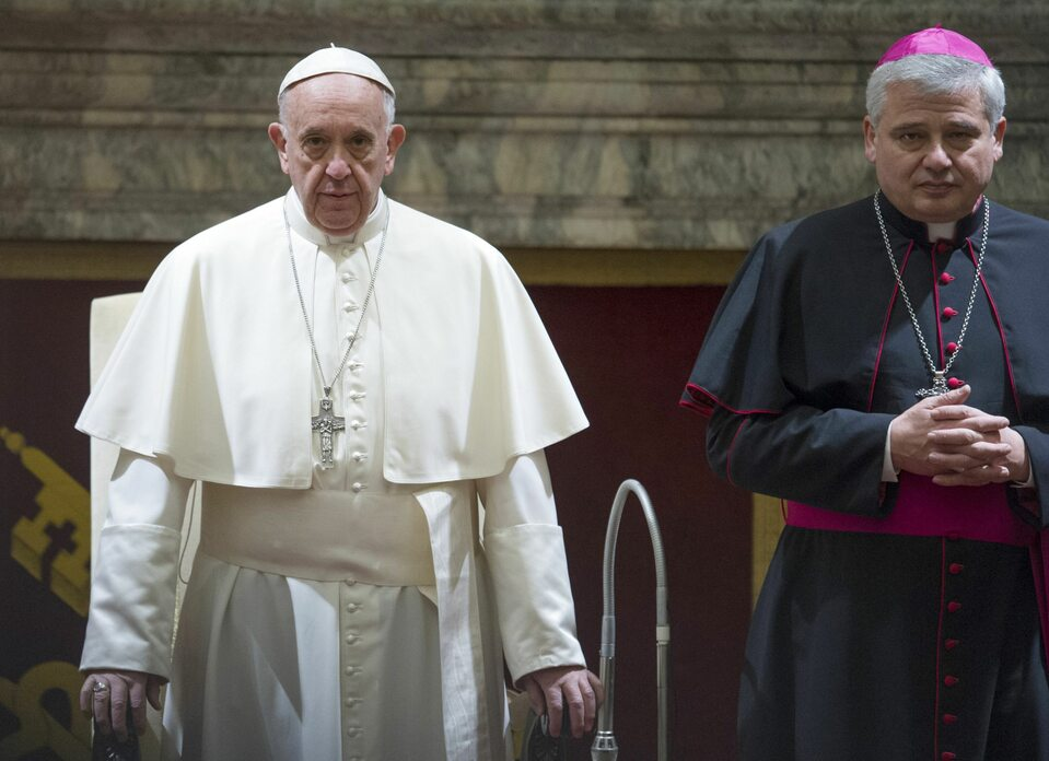 Papież Franciszek i abp Konrad Krajewski