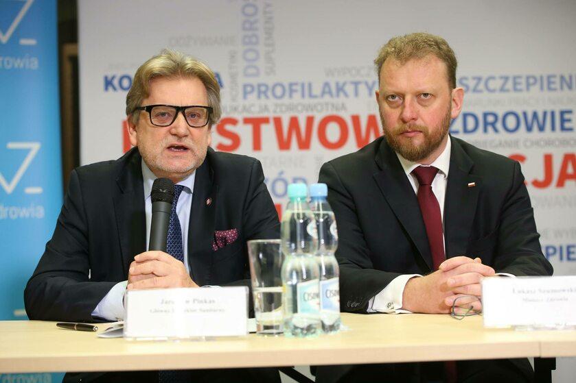 Jarosław Pinkas i Łukasz Szumowski