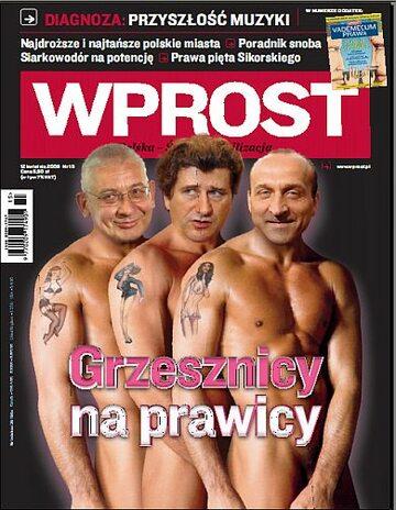 Okładka tygodnika Wprost nr 15/2009 (1370)