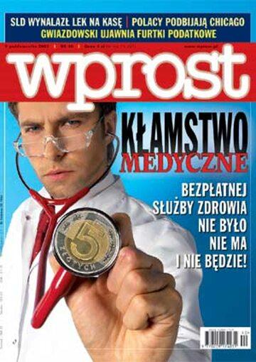 Okładka tygodnika Wprost nr 40/2003 (1088)