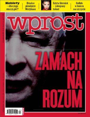 Okładka tygodnika Wprost nr 41/2010 (1444)