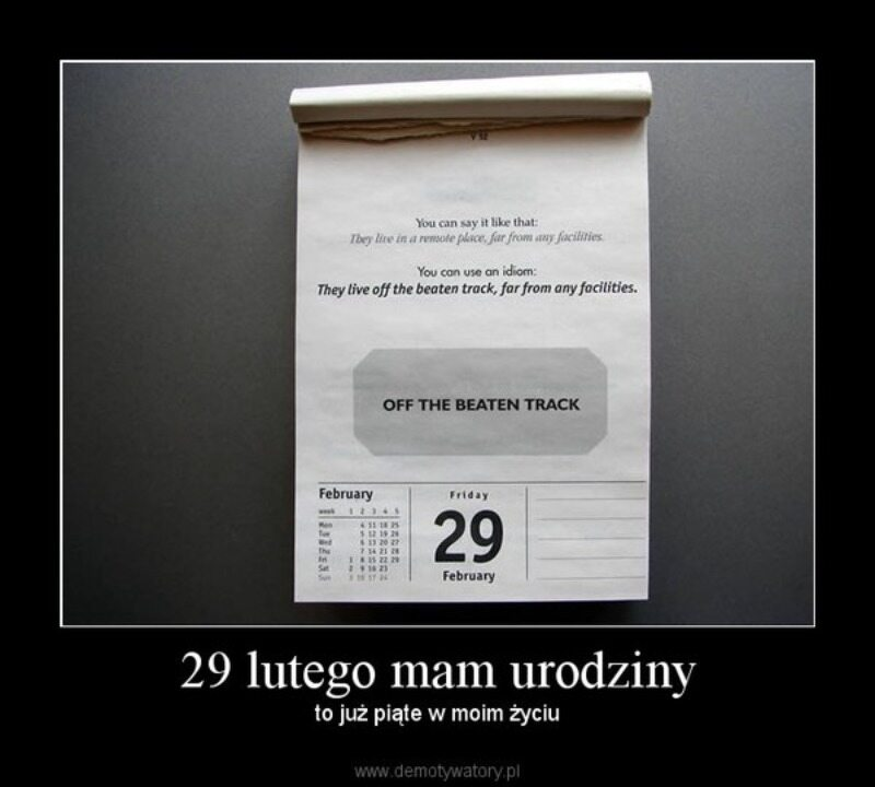 Mem związany z 29 lutego