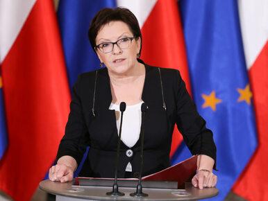 Ewa Kopacz złożyła dymisję na ręca Andrzeja Dudy, ale będzie jeszcze...