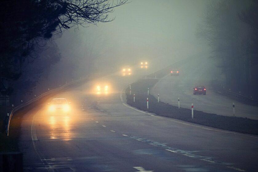 Samochody we mgle