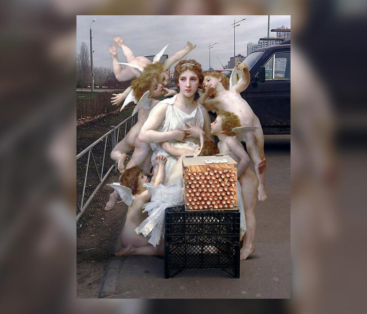 Postacie z klascycznych dzieł sztuki w obiektywie Alexey'a Kondakova