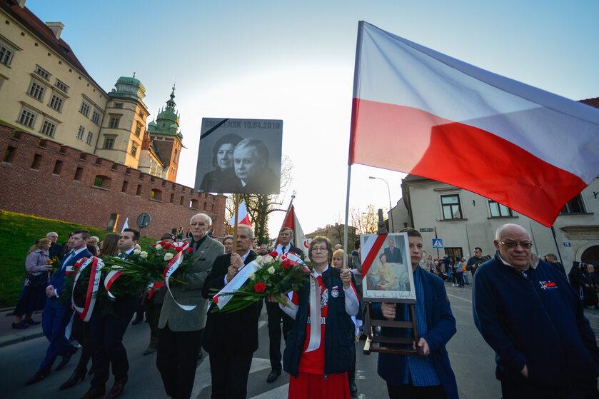 Obchody rocznicy katastrofy smoleńskiej w 2017 r. w Krakowie