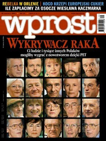Okładka tygodnika Wprost nr 25/2004 (1125)